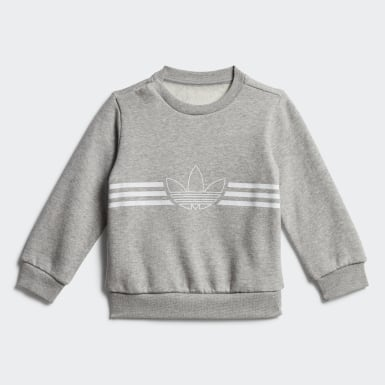 Ensemble Outline Crewneck Gris Enfants Originals