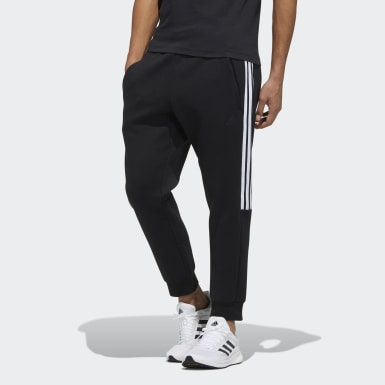 Men Athletics Black Doubleknit 3-Stripes Pants