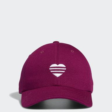 Frauen Golf 3-Streifen Heart Kappe Lila