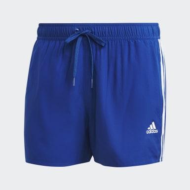 Männer Schwimmen Classic 3-Streifen Badeshorts Blau