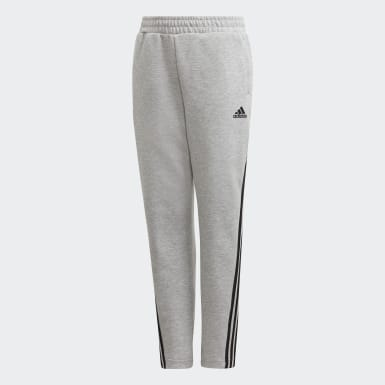 Boys Träning Grå 3-Stripes Doubleknit Tapered Leg Pants