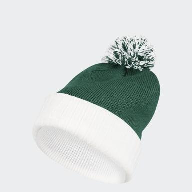 Men's Training Green Cuffed Knit Pom Beanie