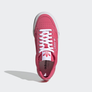 Youth Originals Pink Continental Vulc Shoes