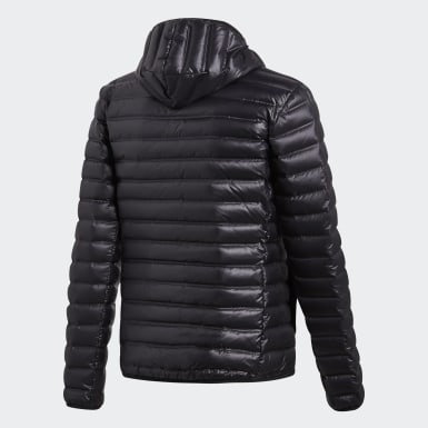 Men Urban Outdoor Black Varilite Hooded Down Jacket