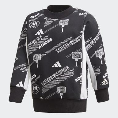 Sweat-shirt Crew Noir Garçons Training