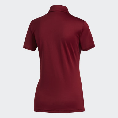 Women Golf Burgundy Tournament Polo Shirt
