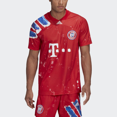 Men Football Red FC Bayern Human Race Jersey