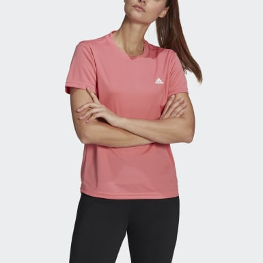 Playera AEROREADY Designed 2 Move Sport Rosa Mujer Training