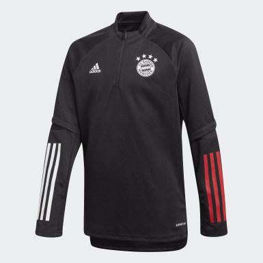 Kinder Fußball FC Bayern München Trainingsoberteil Schwarz