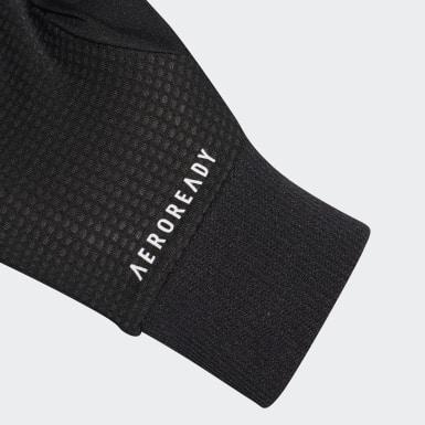 черный Перчатки для бега AEROREADY