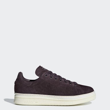 Women Originals Burgundy Stan Smith New Bold Shoes