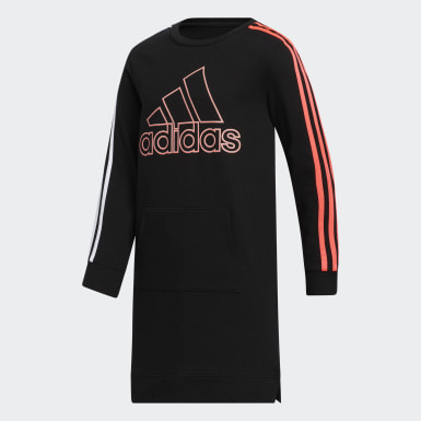 Youth Training Black French Terry Stripe Dress