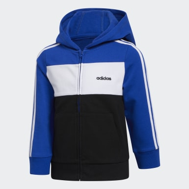 Children Training Blue Hooded Jacket