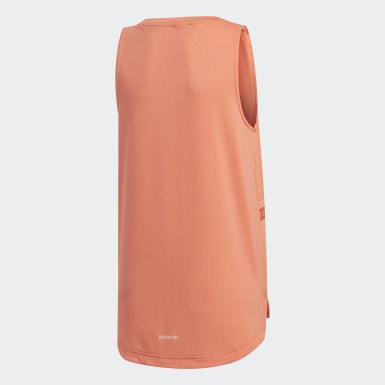 Camiseta Sleeveless Naranja Niña Yoga