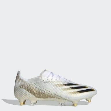 Bota de fútbol X Ghosted.1 césped natural húmedo Blanco Fútbol