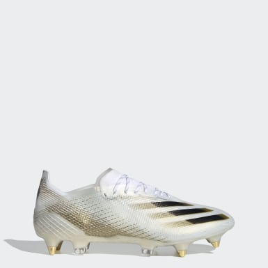 Chaussure X Ghosted.1 Terrain gras Blanc Football