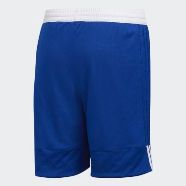 Kids Basketball Blue 3G Speed Reversible Shorts