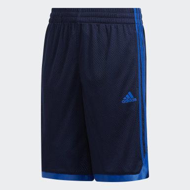 Children Training Blue Iconic Mesh Shorts