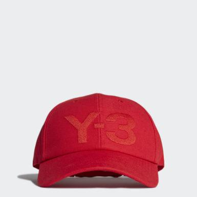 Y-3 červená Kšiltovka Y-3 Logo