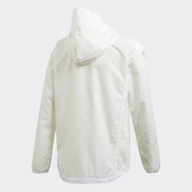 Casaca Corta Viento XFG Must Haves Blanco Niño Training