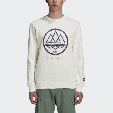 Sweat-shirt SPZL Crew Blanc Hommes Originals