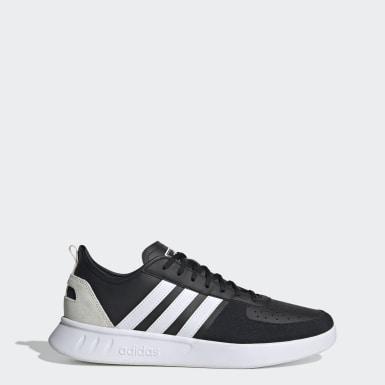 Men Sport Inspired Black Court 80s Shoes