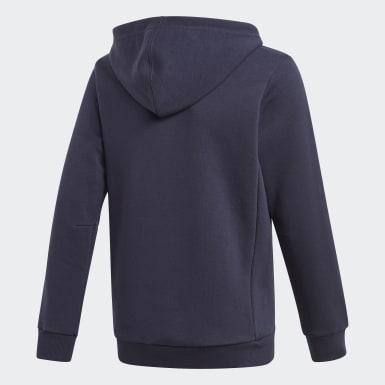 Jongens Training Blauw Must Haves Badge of Sport Fleece Pullover