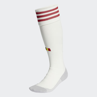 Football White Belgium Away Socks