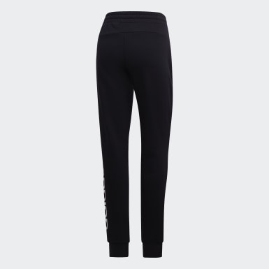Women Athletics Black Essentials Linear Joggers