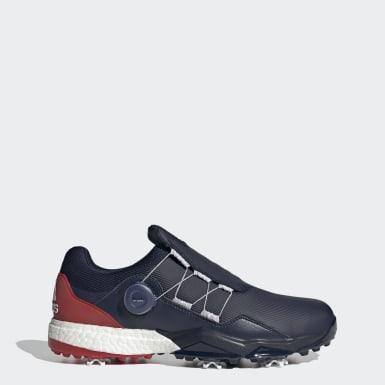 Men Golf Blue Adipower 5ER Boa Golf Shoes