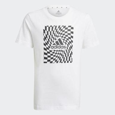 Youth 8-16 Years Athletics White Graphic T-Shirt