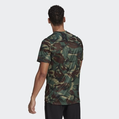 T-shirt adidas Designed To Move AEROREADY Camouflage Graphic Vert Hommes Training