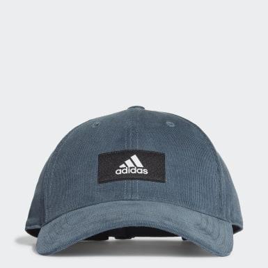 синий Вельветовая бейсболка