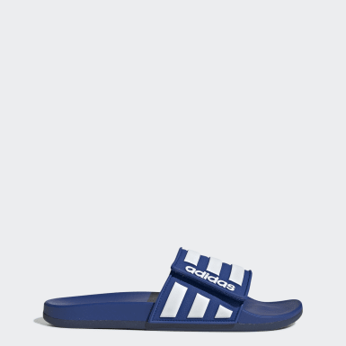 Men Essentials Blue Adilette Comfort Adjustable Slides