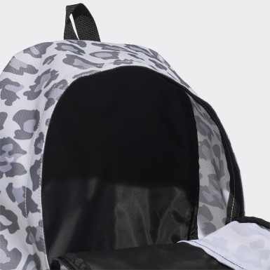 Women Training Grey Linear Backpack Leopard