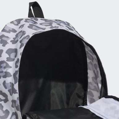 Mochila Leopardo Linear Cinzento Mulher Treino