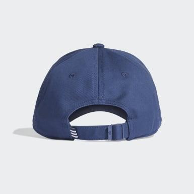 Training Blue 3-Stripes Twill Beyzbol Şapkası