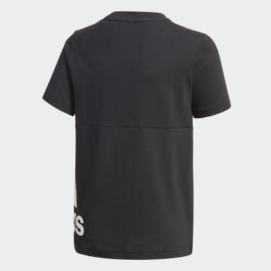 Boys Sport Inspired Black Must Haves Big Logo Tee