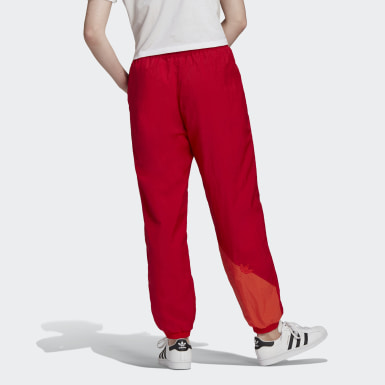 Pants Japona Adicolor Trifolio Sliced Rojo Mujer Originals