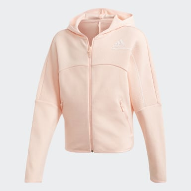 Girls Training Pink adidas Z.N.E. Loose Full-Zip Hoodie