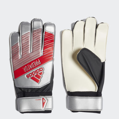 Football Silver Predator Training Goalkeeper Gloves