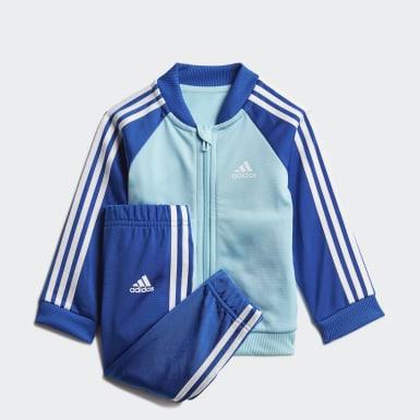 Kids Athletics Blue 3-Stripes Tricot Tracksuit