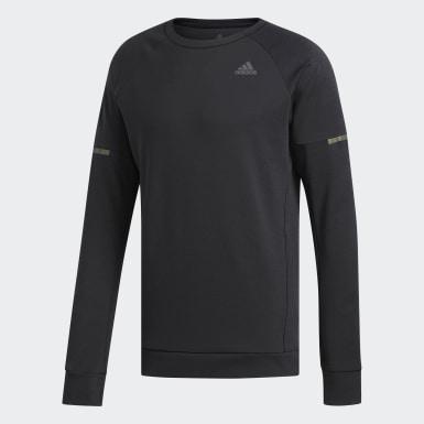 Sweat-shirt Supernova Run Cru Noir Hommes Running
