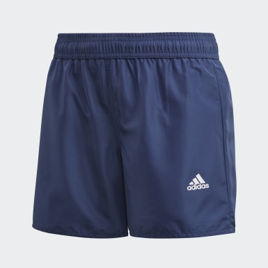 Kids 4-8 Years Swimming Blue Classic Badge of Sport Swim Shorts