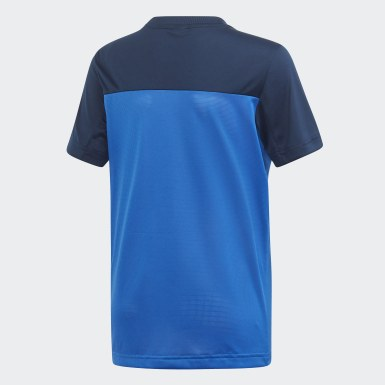 T-shirt Equipment Azul Rapazes Ioga