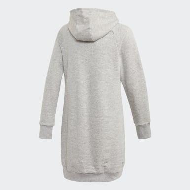 Camisola Comprida com Capuz Cleofus Cinzento Raparigas Treino