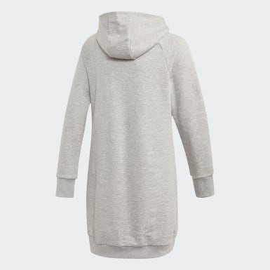 Girls Training Grey Cleofus Long Hoodie