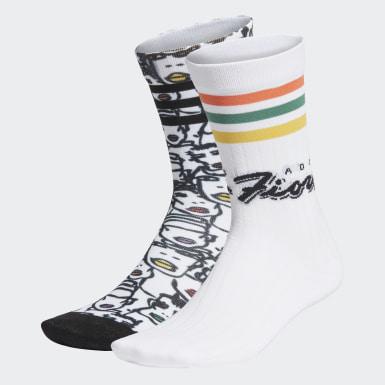 Frauen Originals Mid-Cut Crew Socken, 2 Paar Weiß