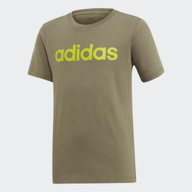 Camiseta Logo Essentials Linear Verde Meninos Training