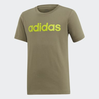 T-shirt Linear Essentials Verde Rapazes Athletics